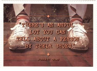 Forrest Gump, Shoes