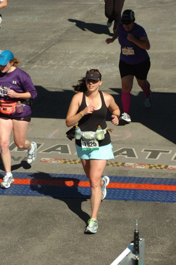 baltimore marathon finish line